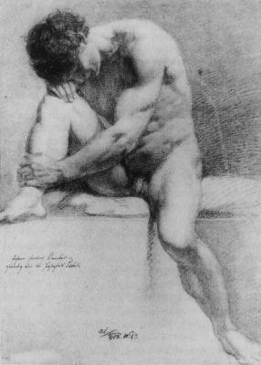 Johann Friedrich Overbeck. Sitting Nude