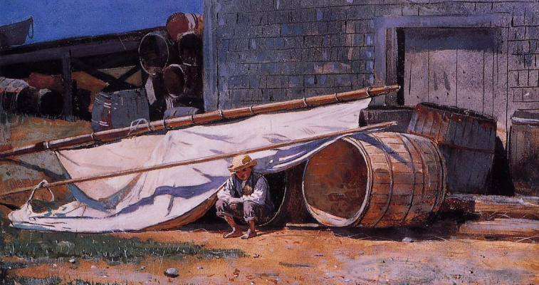 Winslow Homer. The boy in the shipyard