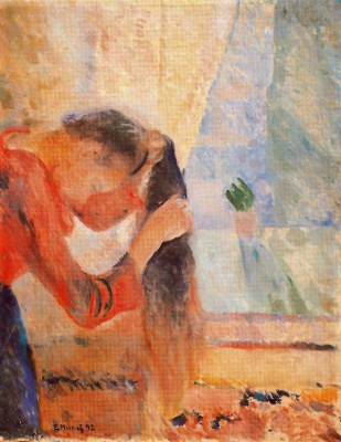 Edvard Munch. The girl combing the hair