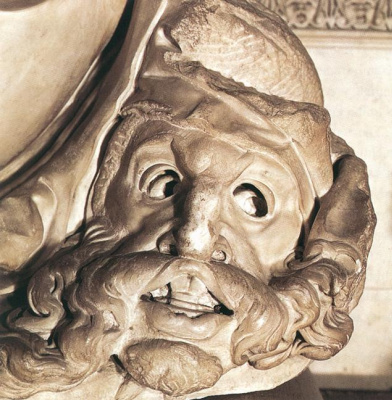 Michelangelo Buonarroti. Tomb Of Giuliano De ' Medici. Night. Head.
