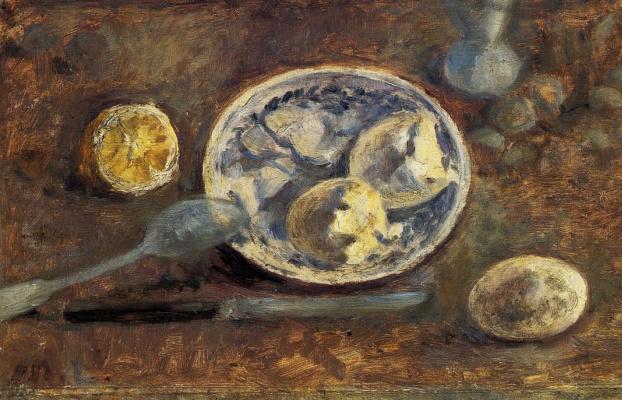 Mikhail Larionov. Still Life with Lemon and Egg
