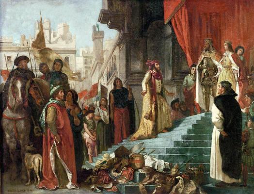 Эжен Делакруа. Возвращение Христофора Колумба