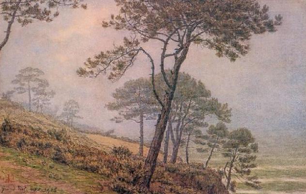 Анри (Henri) Ривьер (Rivière). Сосны в тумане (Pins dans la brume)