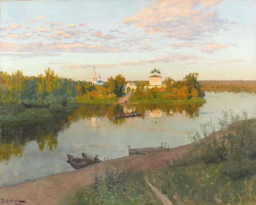 Isaac Levitan. Evening bells