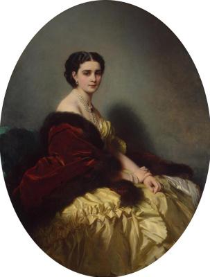 Franz Xaver Winterhalter. Portrait Of Sofia Petrovna Naryshkina