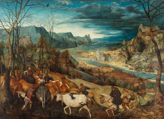 Pieter Bruegel The Elder. Return of the herd (Autumn)