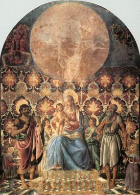 Андреа дель Кастаньо. Мадонна с младенцем и святыми