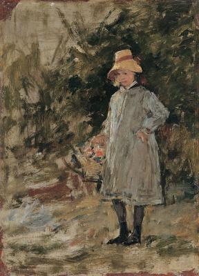 Eugene Boudin. Portrait of a girl
