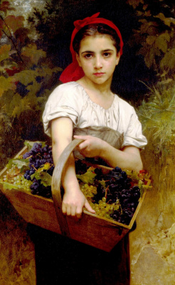 William-Adolphe Bouguereau. The picking of the grapes