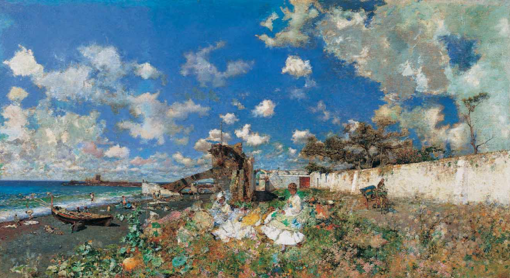 Mariano Fortuni-i-Carbo. The beach at Portici