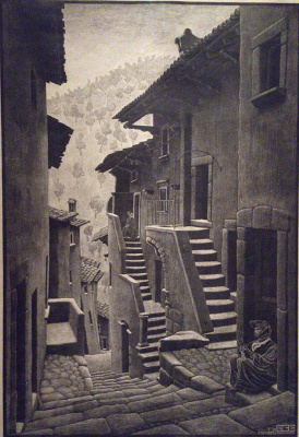 Мауриц Корнелис Эшер. Улица в Сканно, Абруцци