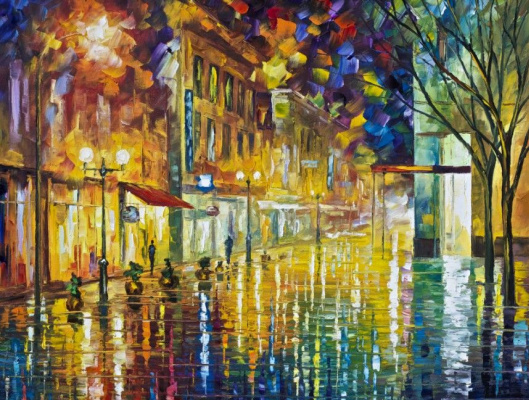 Leonid Afremov. The scent of rain