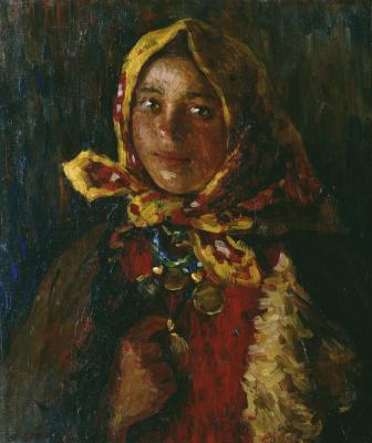 Абрам Ефимович Архипов. Крестьянская девушка. 1920-е