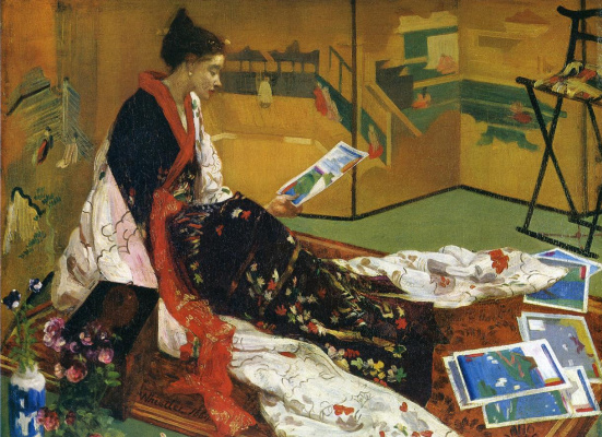 James Abbot McNeill Whistler. Caprice in purple and gold: the Golden screen