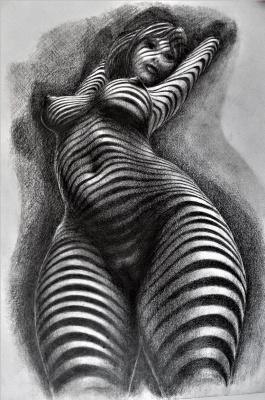 Alex Visiroff. Nude under the blinds