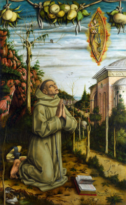 Carlo Crivelli. The vision of the blessed Gabriele Ferretti