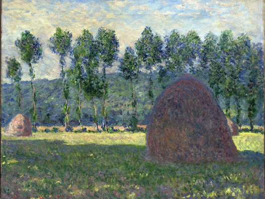 Claude Monet. Haystack at Giverny