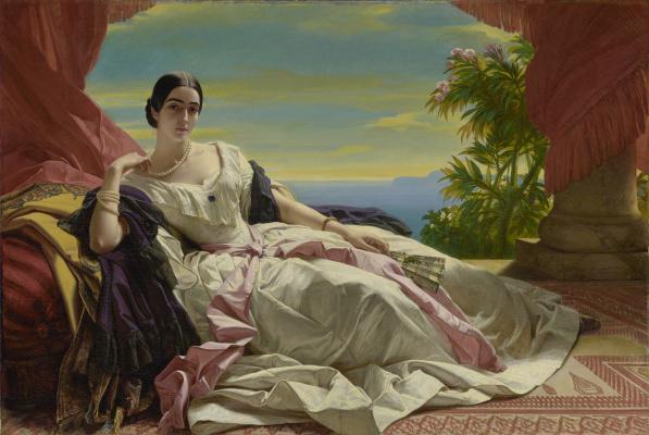 Franz Xaver Winterhalter. Grand Princess Leonilla of Sayn-Wittgenstein-Sayn, nee Baryatinsky