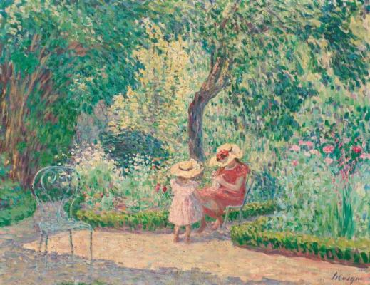 Henri Lebasque. In the garden Montevrain