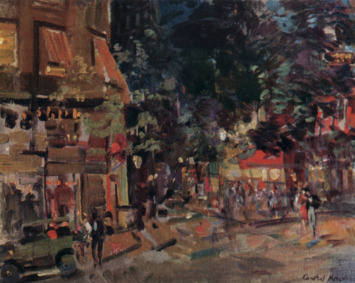 Konstantin Korovin. Montmartre in the evening