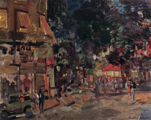 Konstantin Korovin. Montmartre in the evening
