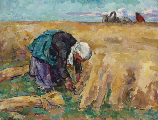 Petr Petrovich Konchalovsky. The harvest of wheat