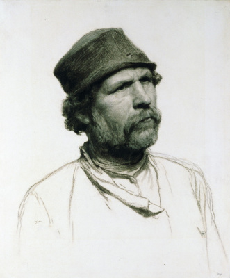 Nikolay Aleksandrovich Yaroshenko. Peasant. 1879