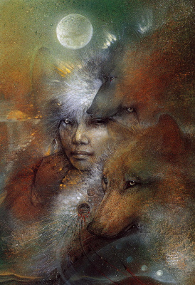 Susan Seddon Boulet. In the company of wolves