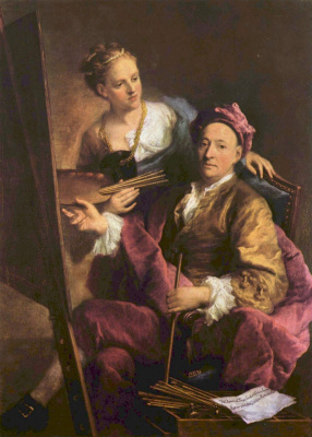 Жорж Десмари. Автопортрет с дочерью