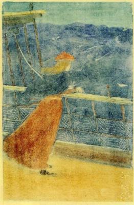 Морис Брэзил Прендергаст. Женщина на палубе, смотрящая на море
