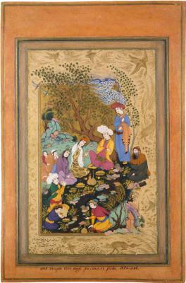 Riza-yi-Abbasi. Coming in the lap of nature. (Thumbnail 1).