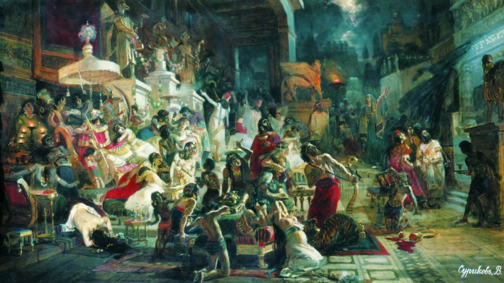 Vasily Ivanovich Surikov. The Feast Of Belshazzar. Sketch