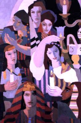 Анри Клеман-Серво. Со свечами