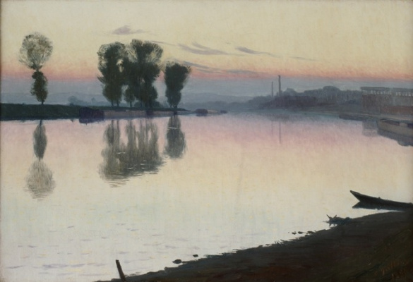 Charles Guillaume. Twilight on the Seine
