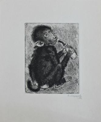 Elena Georgievna Morozova-Ekkert. Monkey