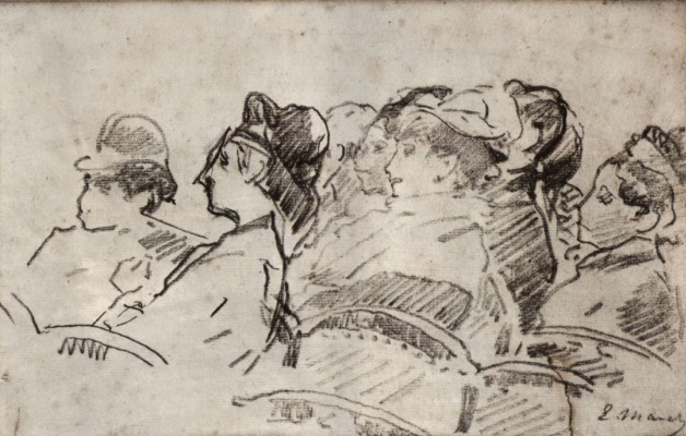 Edouard Manet. In the theater