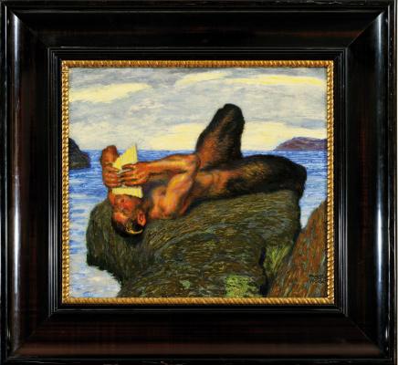 Франц фон Штук. Фавн, играющий на свирели у моря