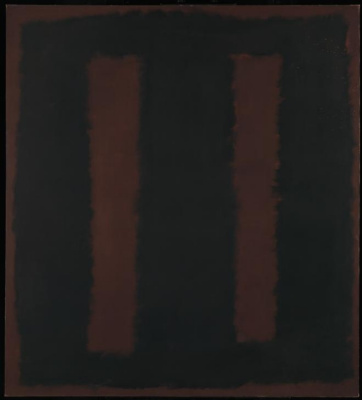 Rothko Mark. Black on Burgundy