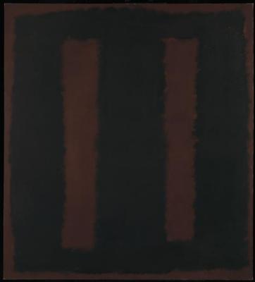 Rothko Mark. Black on Burgundy