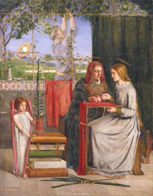 Данте Габриэль Россетти. Юность Девы Марии
