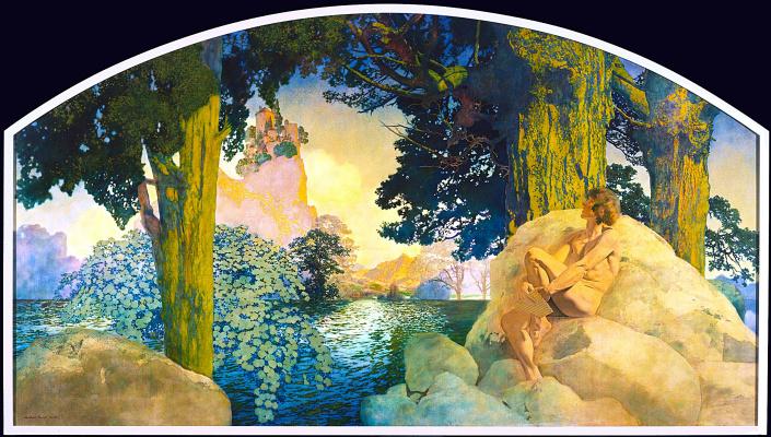 Maxfield Parrish. Dream Castle in Heaven