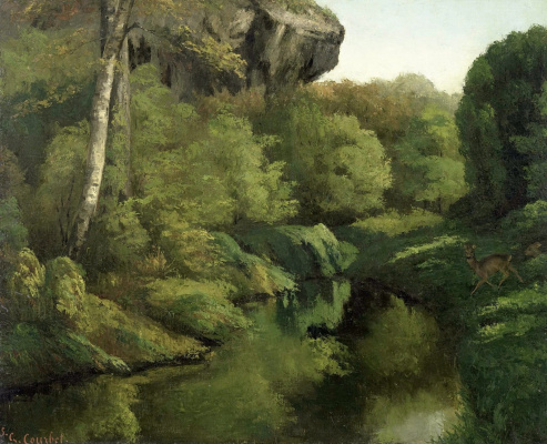 Gustave Courbet. View in the forest of Fontainebleau