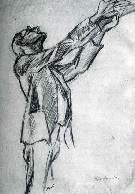 Томас Харт Бентон. Мужчина с поднятыми руками