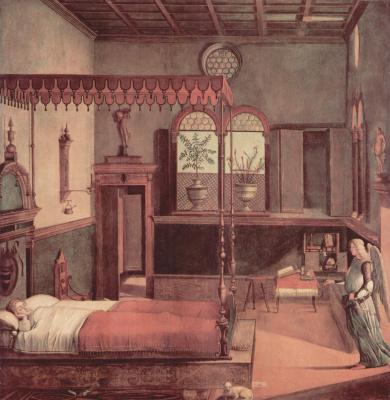 Витторе Карпаччо. Цикл картин к житию св. Урсулы, сон святой