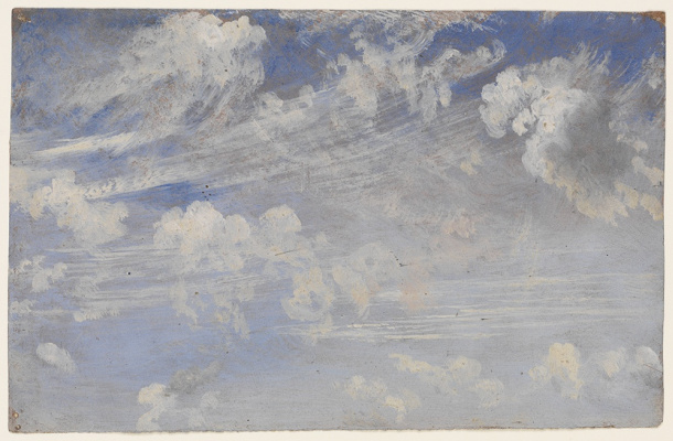 John Constable. Sketch of Cirrus clouds