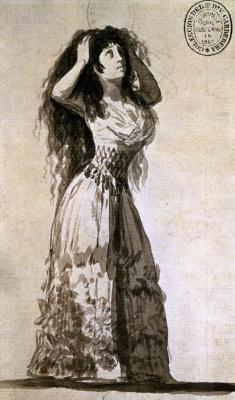 Герцогиня Альба, укладывающая волосы