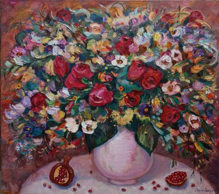 Oksana Viktorovna Zalevskaya. Festive bouquet