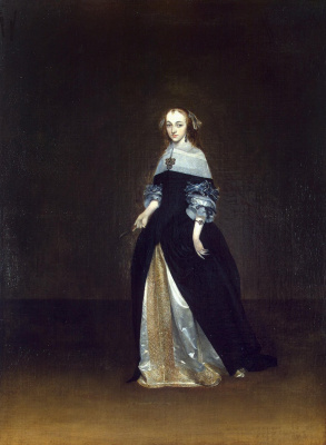 Gerard Terborch (ter Borch). Portrait of Katharina van Leynik