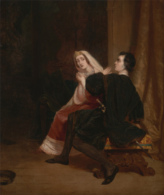 Ричард Дадд. Hamlet and his mother