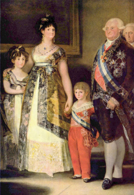 Francisco Goya. The family of Charles IV, a fragment